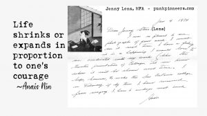Anais Letter to Jenny Lens