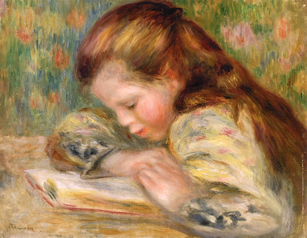 Child Reading aka Enfant Lisant, Renoir, circa 1890-1893, Barnes Foundation, in Public Domain.jpeg