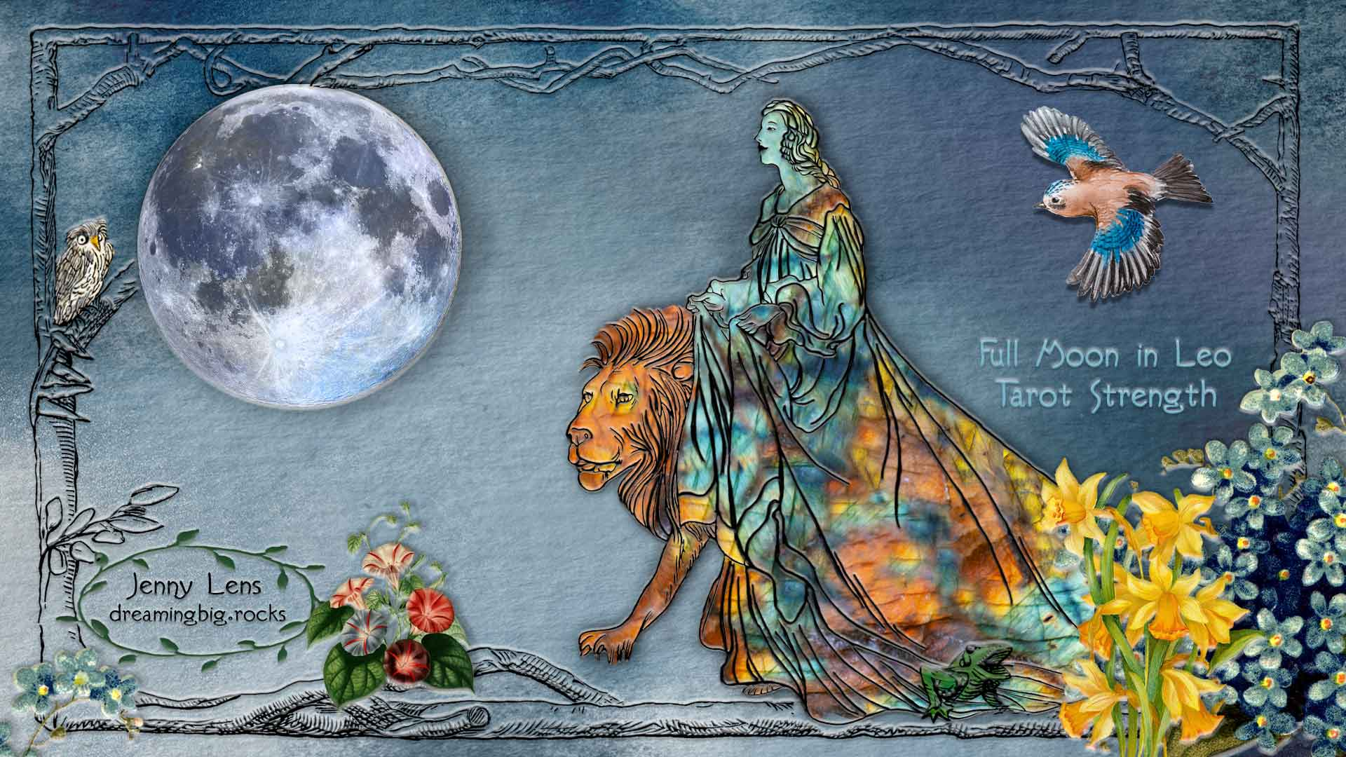 Read more about the article Full Moon in Leo and Tarot Strength