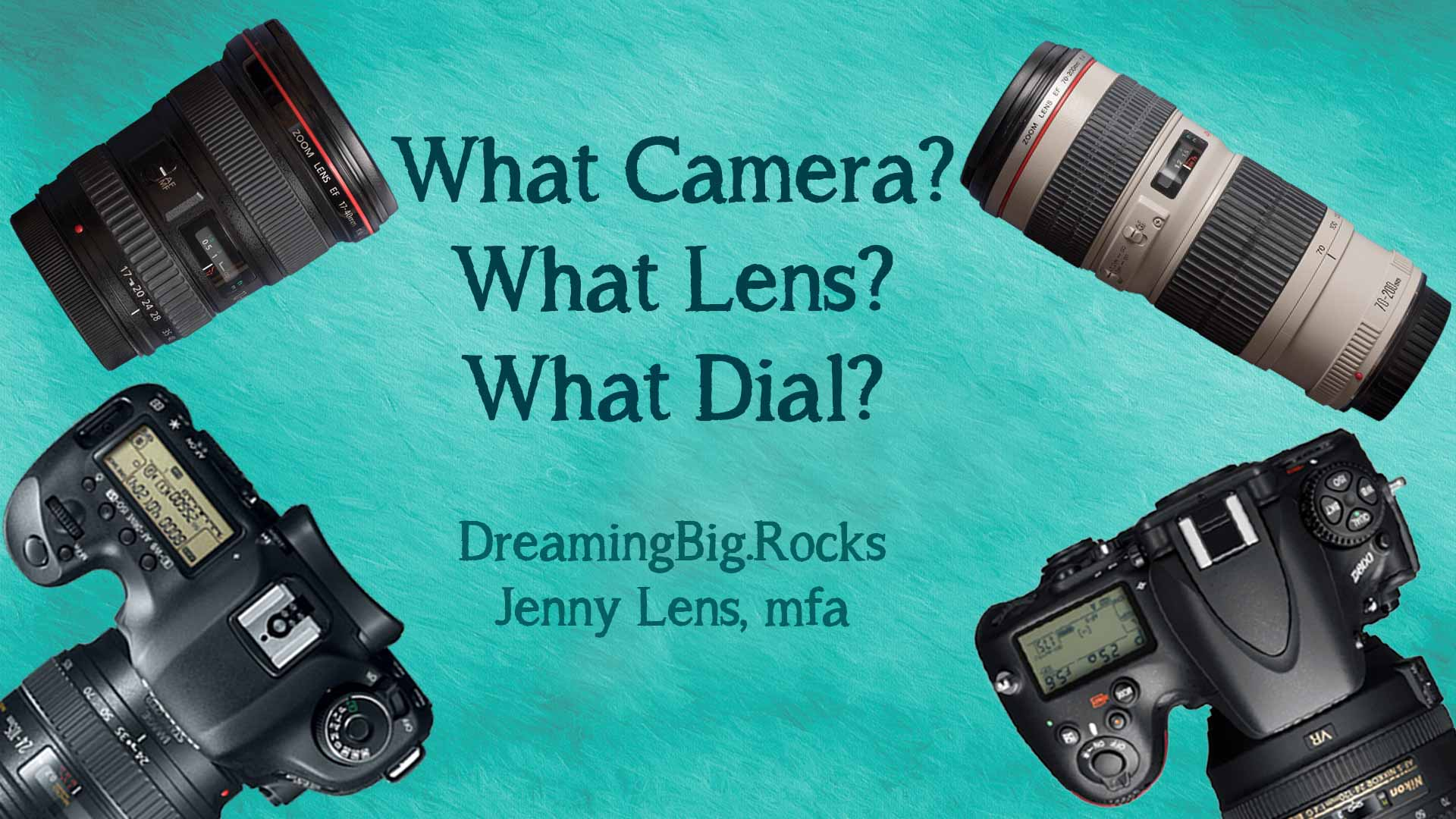 What Camera? What Lens? What Dial?