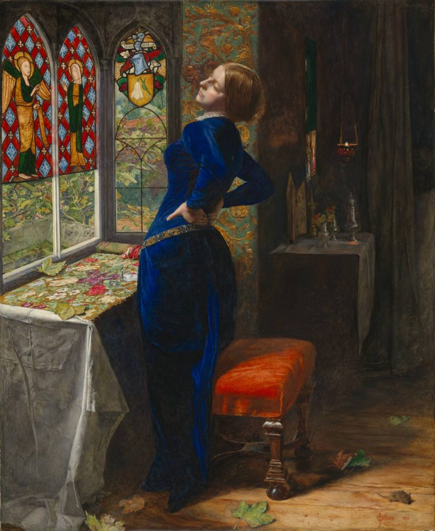 Mariana by Sir Edward Millais, 1851, Tate Modern, London.